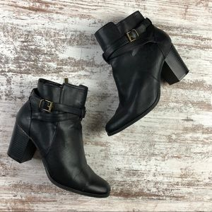 Kenneth Cole Reaction Strappy Heeled Ankle Boots